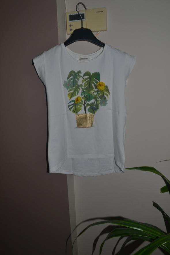 Zara bluzka 3D kwiaty 9 10 lat 140cm liście...