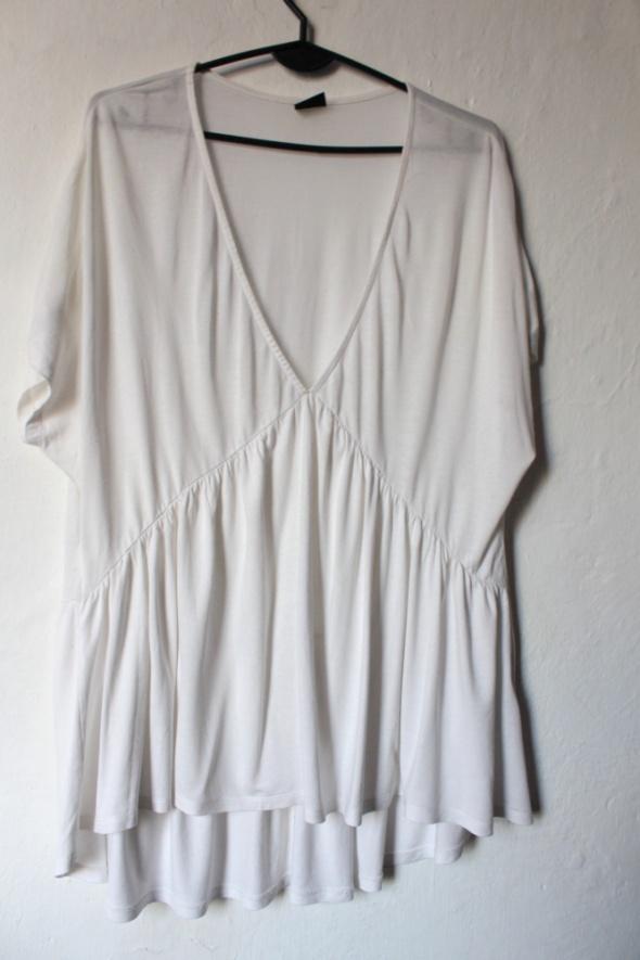 Biała bluzka tunika ciąża i po r L...