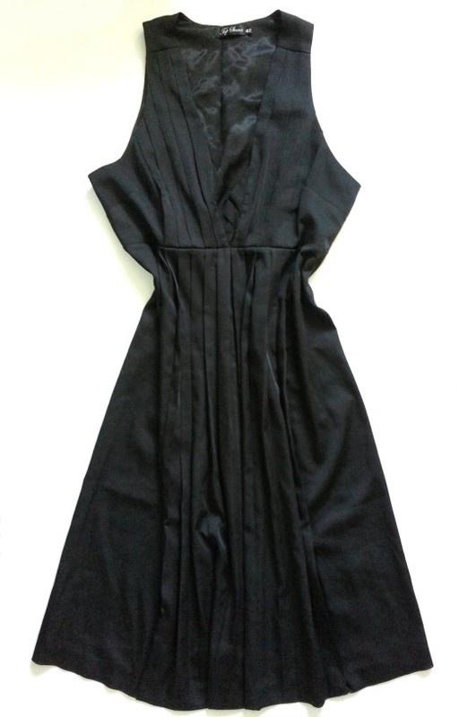 Czarna sukienka plisowana Top Secret 42 XL...
