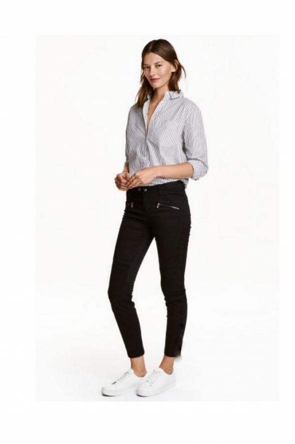 Spodnie w stylu motocyklowym H&M czarne XS rurki