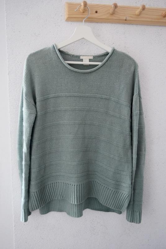 Sweter H&M zielony oversize seledynowy XS