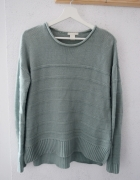 Sweter H&M zielony oversize seledynowy XS...