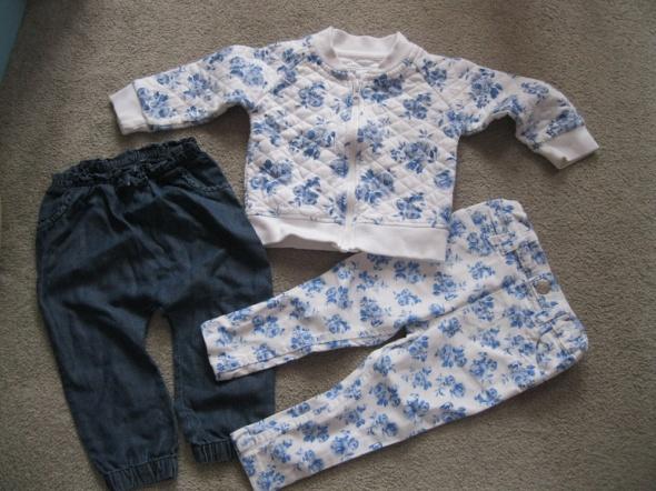zestaw spodnie i bluza bomber 80 kwiaty