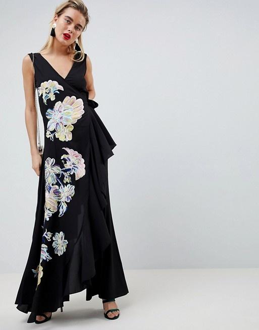 ASOS Design kombinezon haftowany elegancki oryginalny XS