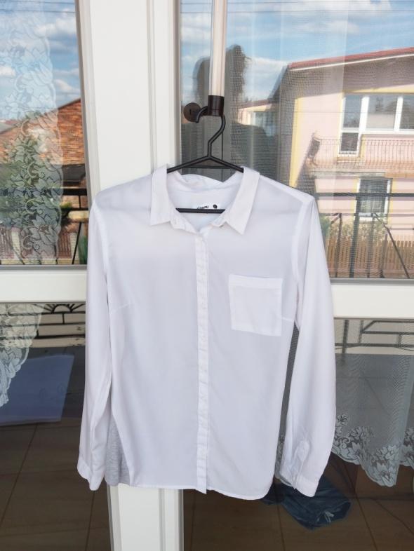 Elegancka koszula Sinsay szaro biała z kieszenią...