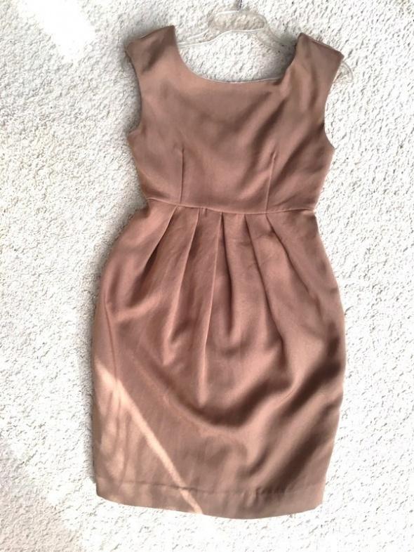 Brązowa klasyczna sukienka H&M