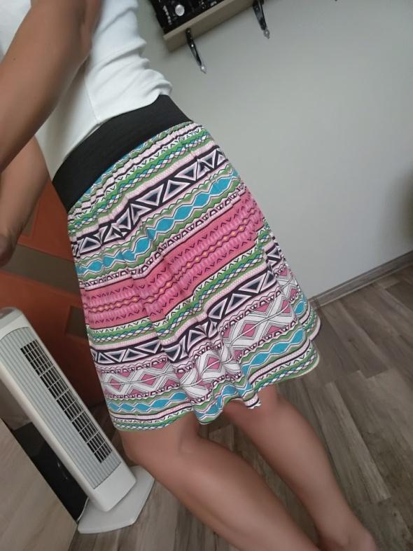 kolorowa spódnica lato wzorki 36