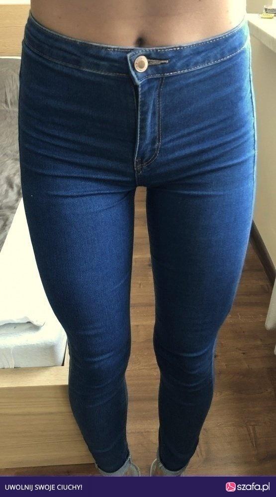 Wyprzedaż jeansy bershka wysoki stan...