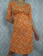 Rozkloszowana sukienka w kwiaty Next letnia...