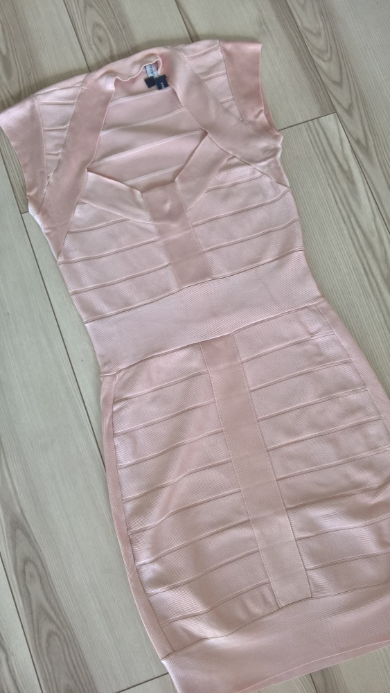Sukienka bandażowa M pudrowa...