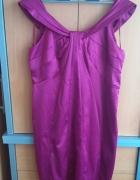 Śliczna sukienka amarantowa XXL...