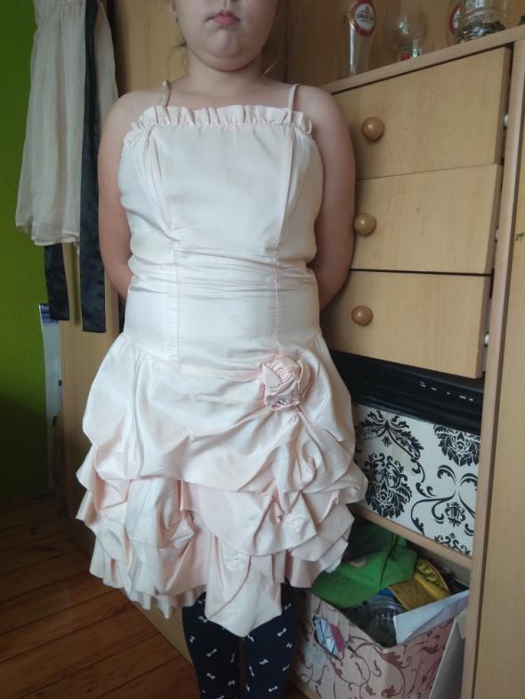Oryginalna sukienka 36 nude