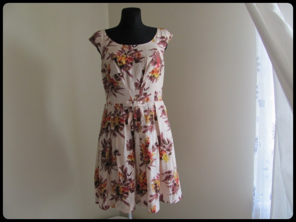 69d70e4696 Suknie i sukienki Jedwabna sukienka L i XL elegancka wesele chrzest komunia