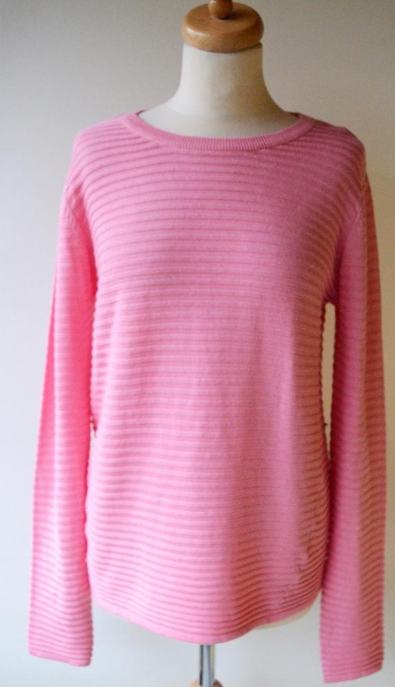 Sweter Cukierkowy Róż Prążki Oversize B Young S 36...
