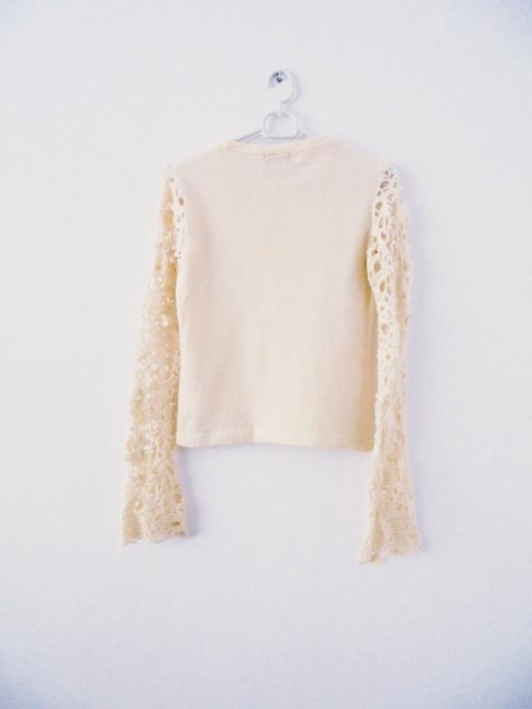 sweterek rozszerzane rękawy koronka rozm XS