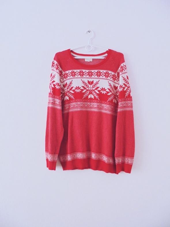śliczny malinowy sweterek M L