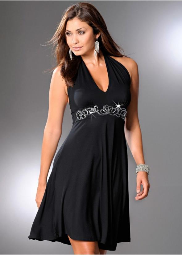 Sliczna czarna nowa sukienka L