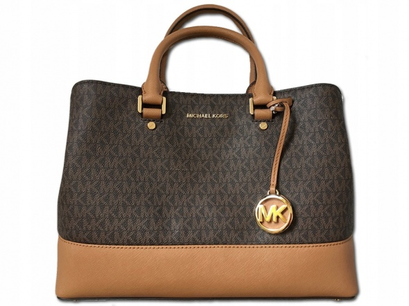 MICHAEL KORS Savannah Brown Acorn monogram NOWA salon