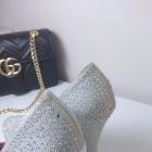 sylwestrowe szpilki platformy z kryształkami srebrne piękne nelly