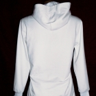 bluza tunika biała z kapturem
