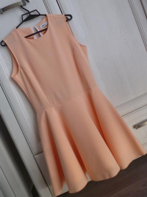 38 M S Moriss morelowa sukienka rozkloszowana