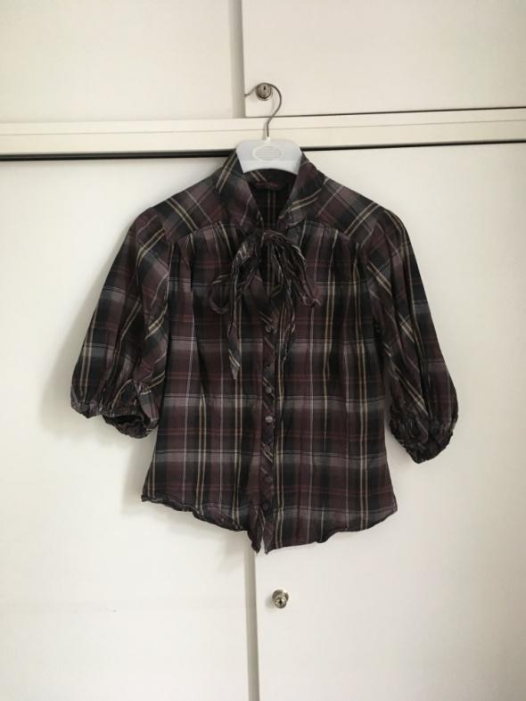 Koszula Miss Selfridge z wiązaniem L kratka...