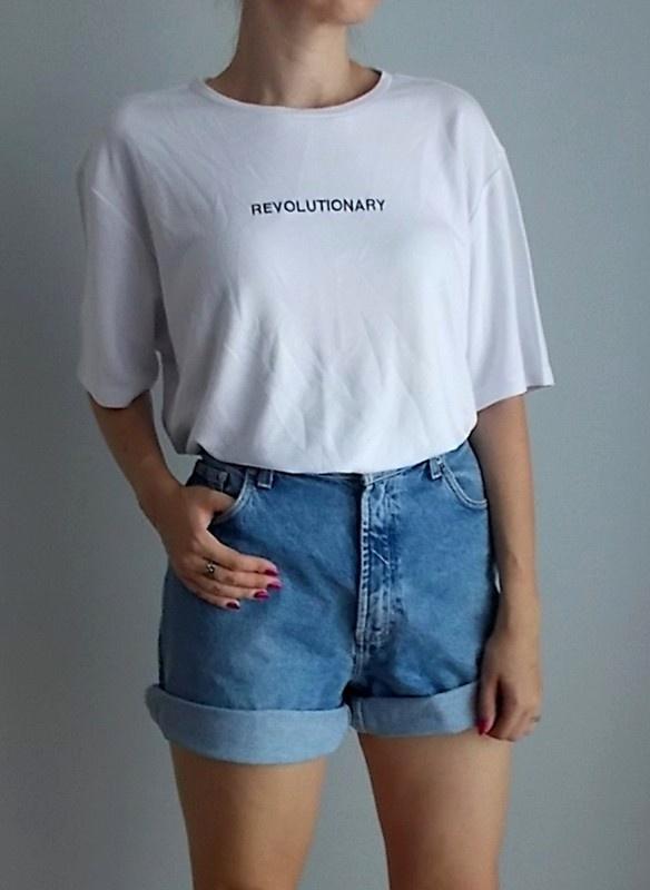 H&M t shirt z napisem