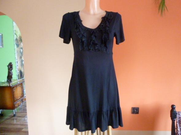 Sukienka tunika czarna z falbankami goth m l