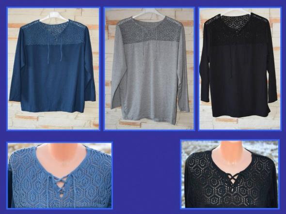 Nowe bluzeczki Sttyl Plus Size koronka haft