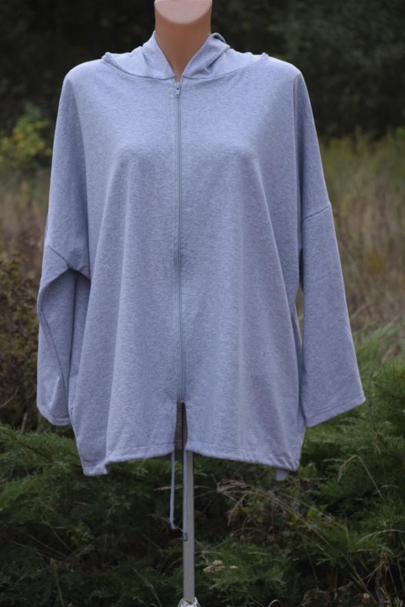 Duży Rozmiar Nowa bluza z różą