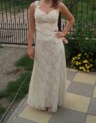Długa koronkowa suknia xs...