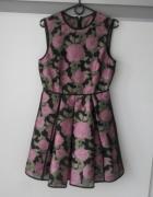 Sukienka Asos w róże rozkloszowana rozmiar 42...