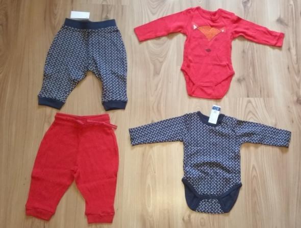 Nowe body z długim rękawem i spodenki niemowlęce 74