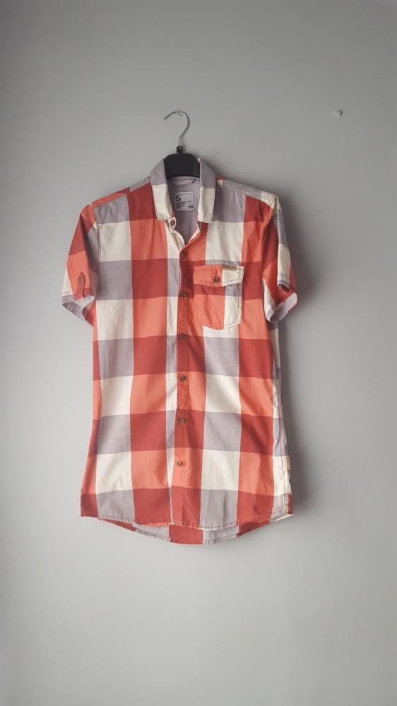 Pomarańczowa koszula w kratkę