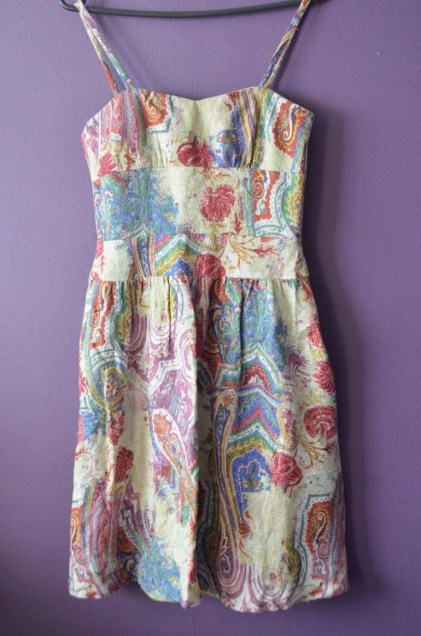 kolorowa sukienka 36 S
