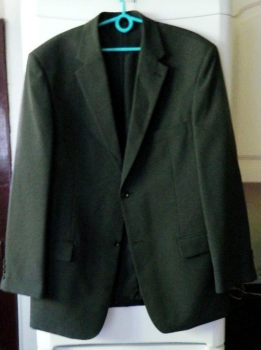 Garnitur męski szary 2 pary spodni r 52