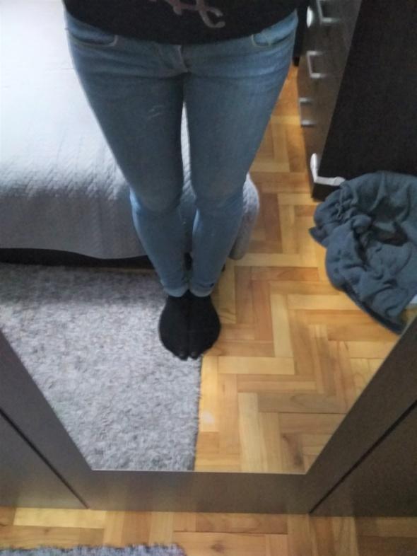 spodnie rurki jeans...