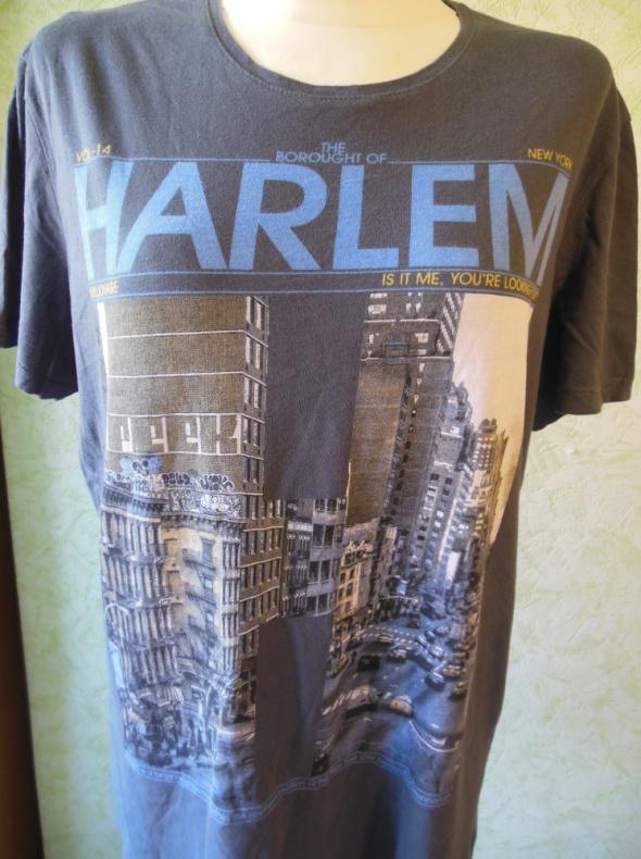 Męska koszulka z nadrukiem Harlem rozmiar XL