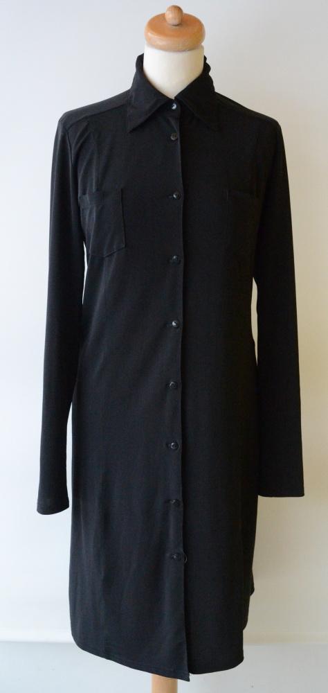 Koszula H&M Czarna Długa Sukienka Oversize L 40