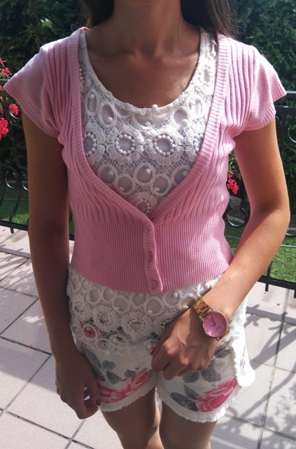 rózowe bolerko oversize modne