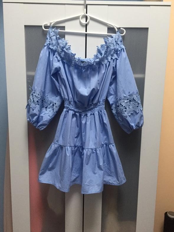 Nowa sukienka hiszpanka błękitna