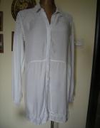 biała bawełniana koszulowa tunika sukienka Bik Bok L XL...