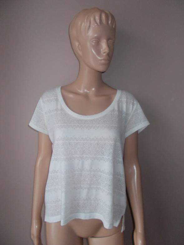 H&M Biała Koronkowa Tshirt