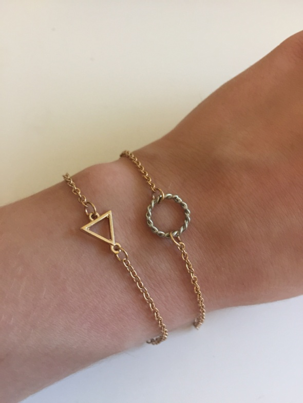 komplet bransoletki para bransoletek bransoletka kolor złoty złote