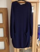sweterek długi z kieszeniami...