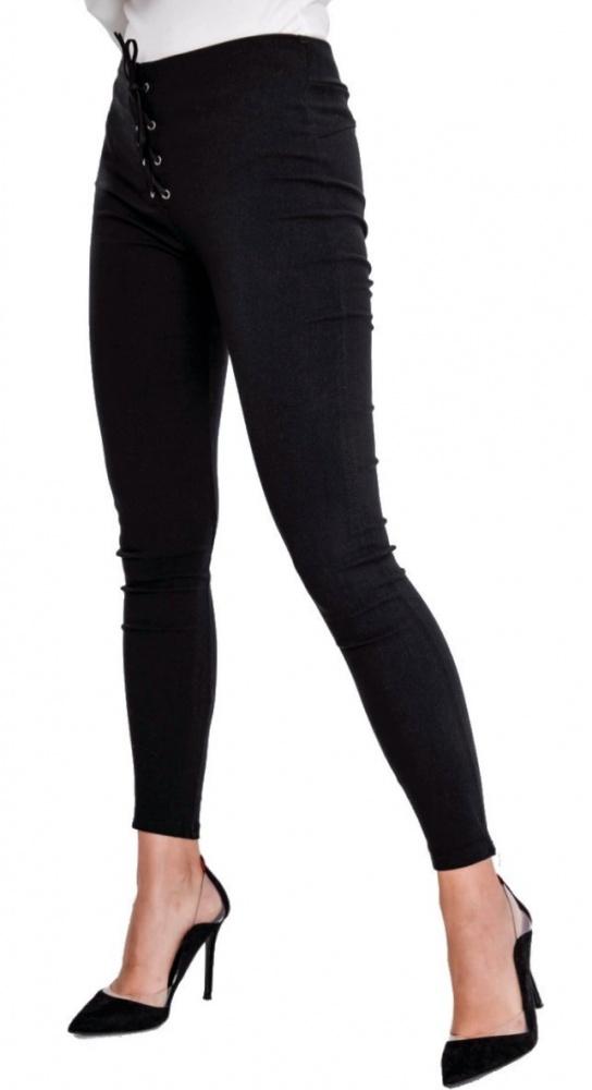 Leginsy spodnie rurki wyszczuplające wiązane XL