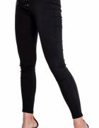 Leginsy spodnie rurki wyszczuplające wiązane XL...