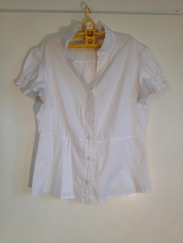 Sweet west Koszula biała klasyczna bazowa L M 40 36 38 XL krótki rękaw używana