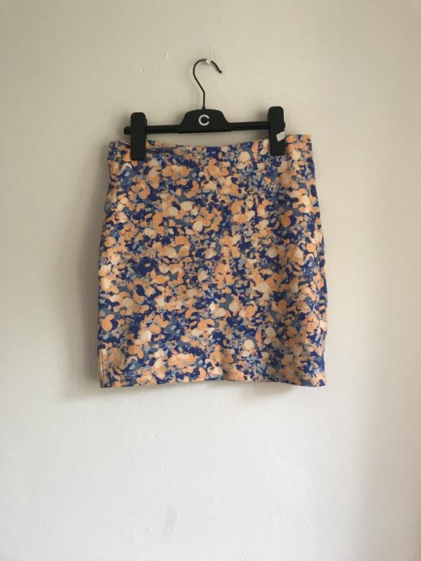 Kwiecista spódniczka floral ołówkowa przylegająca tuba Cubus S...
