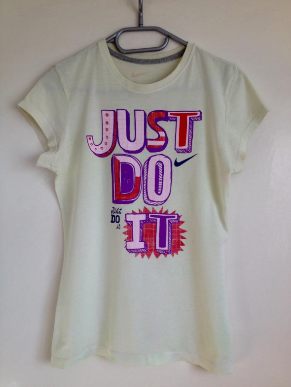 Koszulka tshirt Nike oryginalny używany seledynowy nadruk Just do it Xs S M XL 34 36 38 40 42
